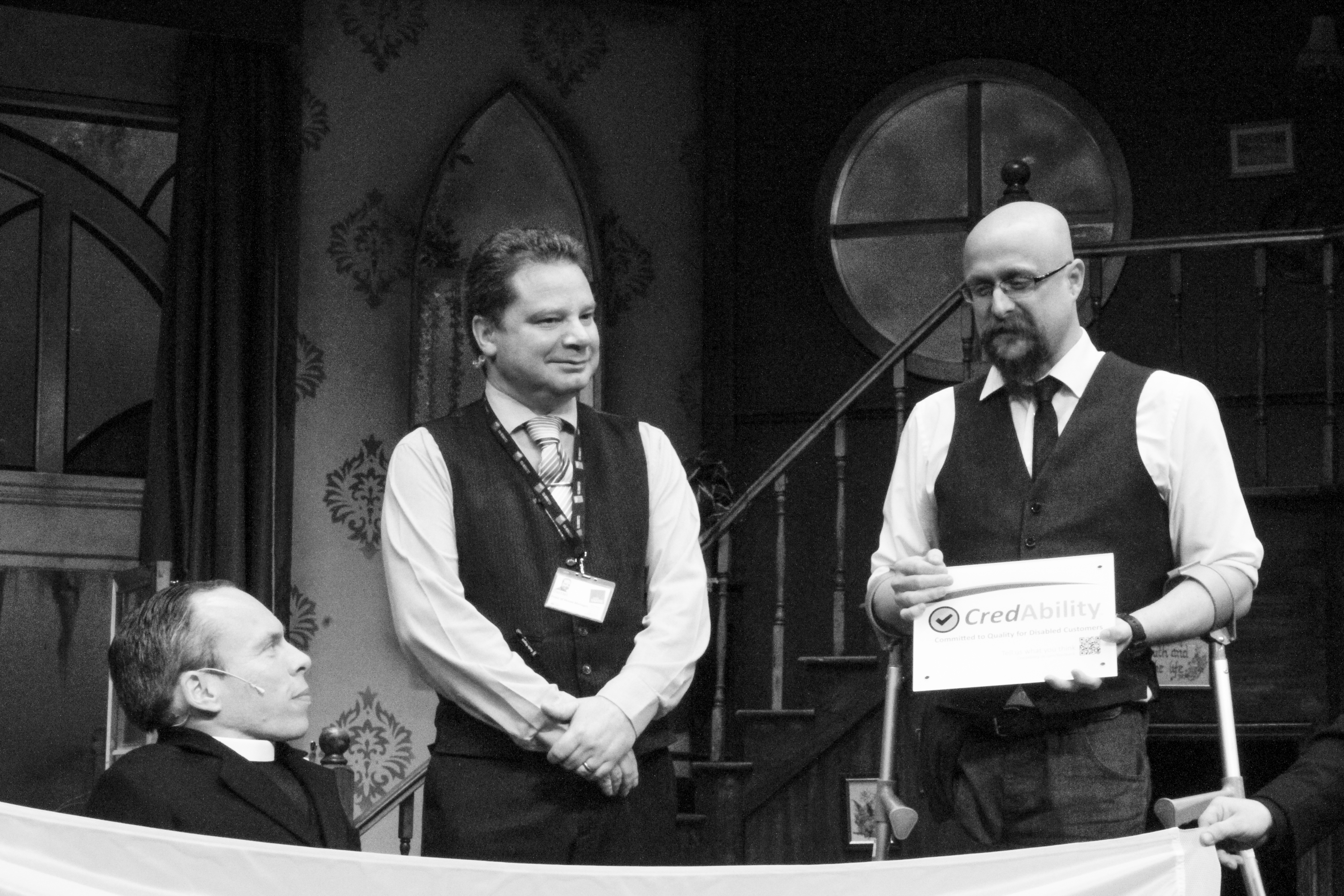 ddrby theatres receives the CRedAble Access quality mark from Warwick Davis