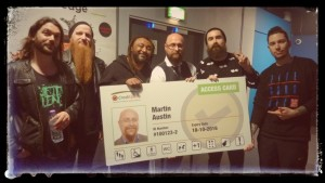 the band Skindred and nimbus MD martin with a BIIIG Access Card