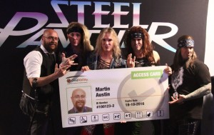 Steel Panther endorsing the Access Card