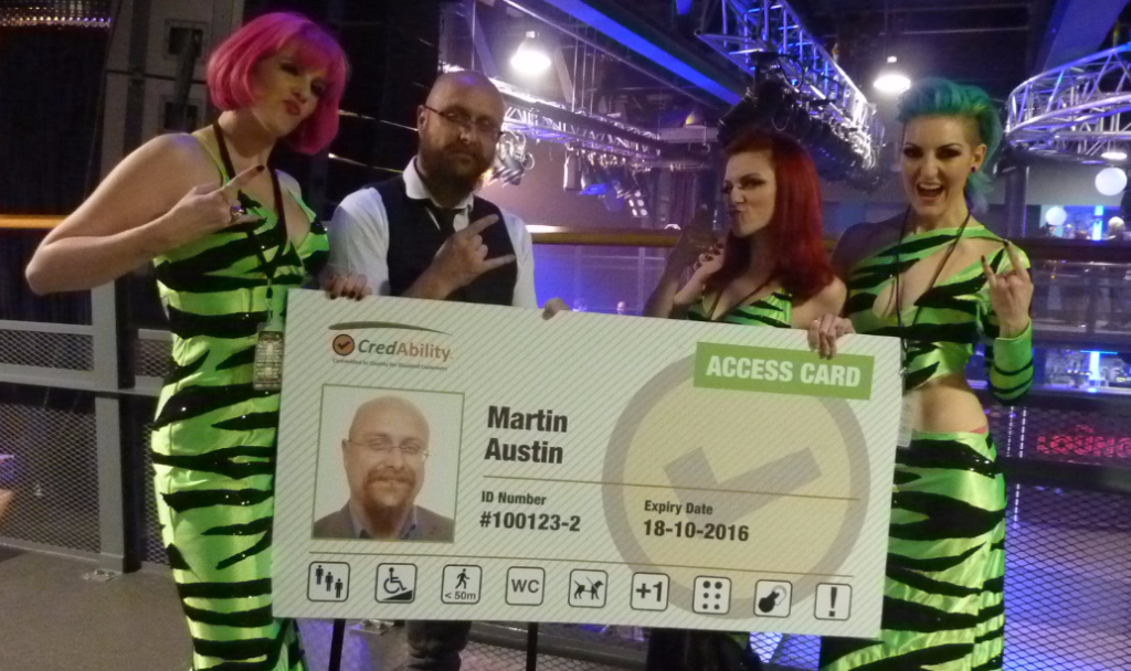 Lounge Kittens join Martin in promoting the Access Card