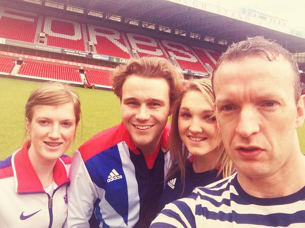 GB Paralmpians 'selfie' at Nottingham Forest
