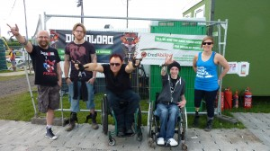 image of some disabled music fans helping the download festival celebrate their CredAbility Awards