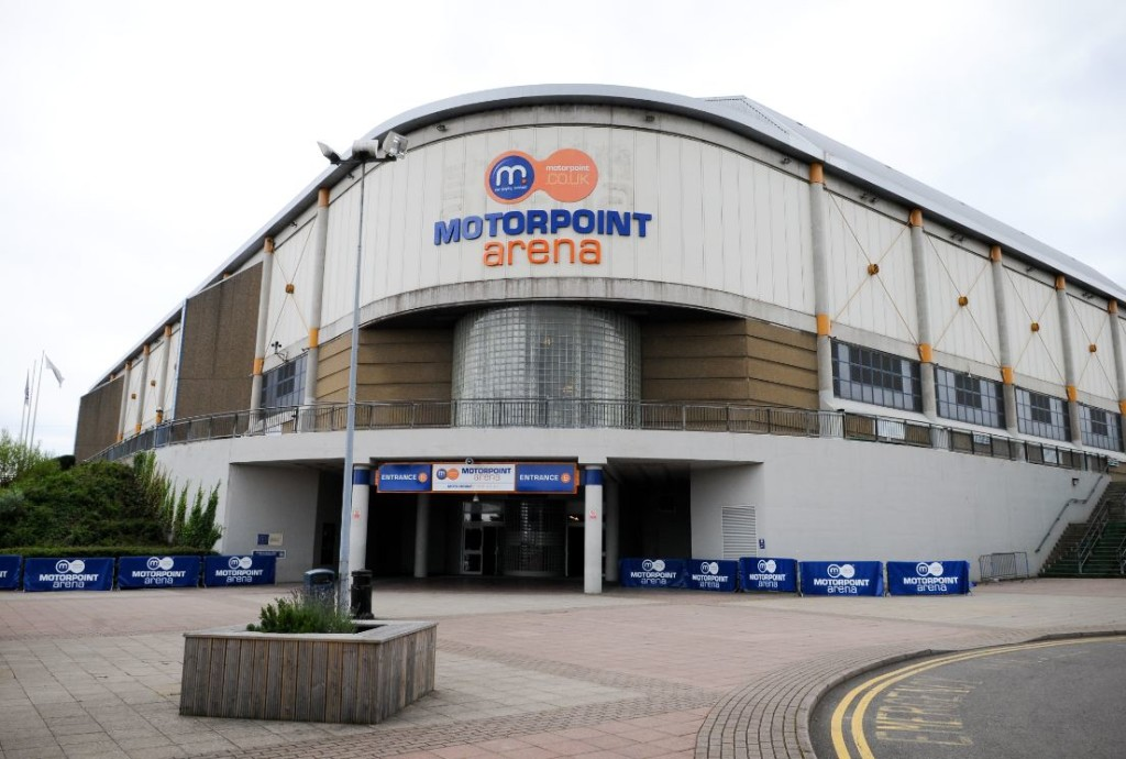 exterior shot of sheffield arena