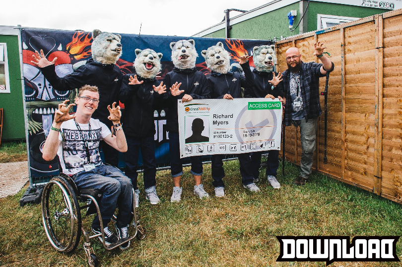 photo of greg and martin with man on a mission at download