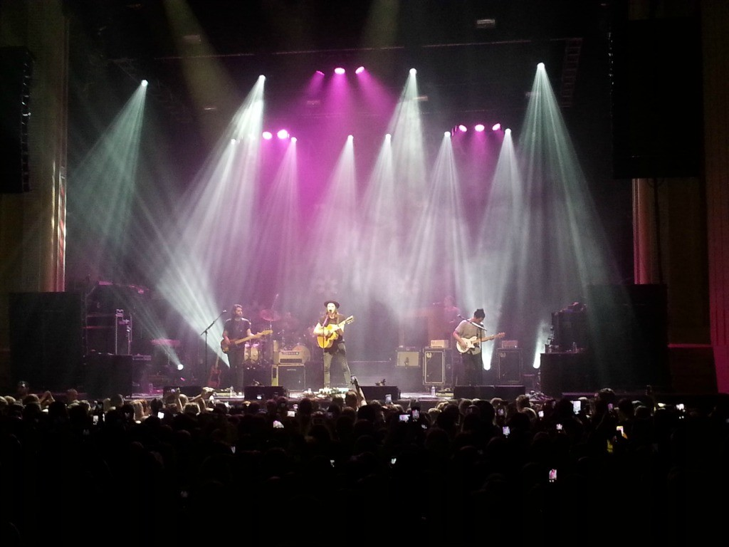 Emmas view from a recent James Bay gig
