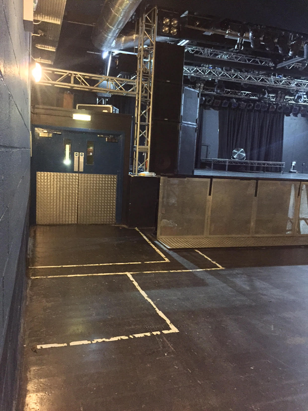 Interior side of stage photograph
