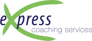 Express Coaching Services logo with large green X