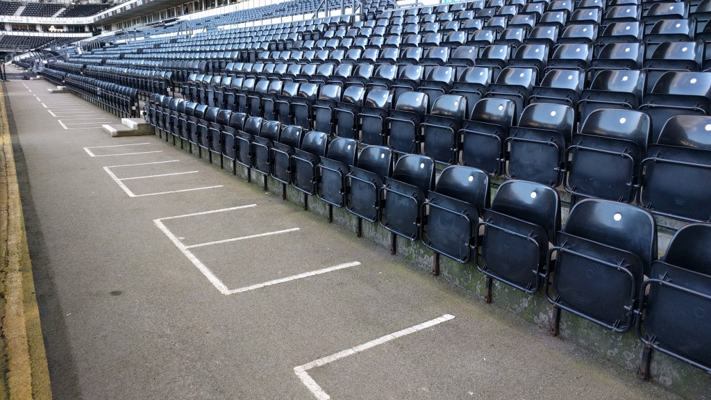 Stadium accessible viewing area seating