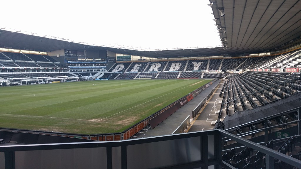 derby county stadium and pitch viewing area