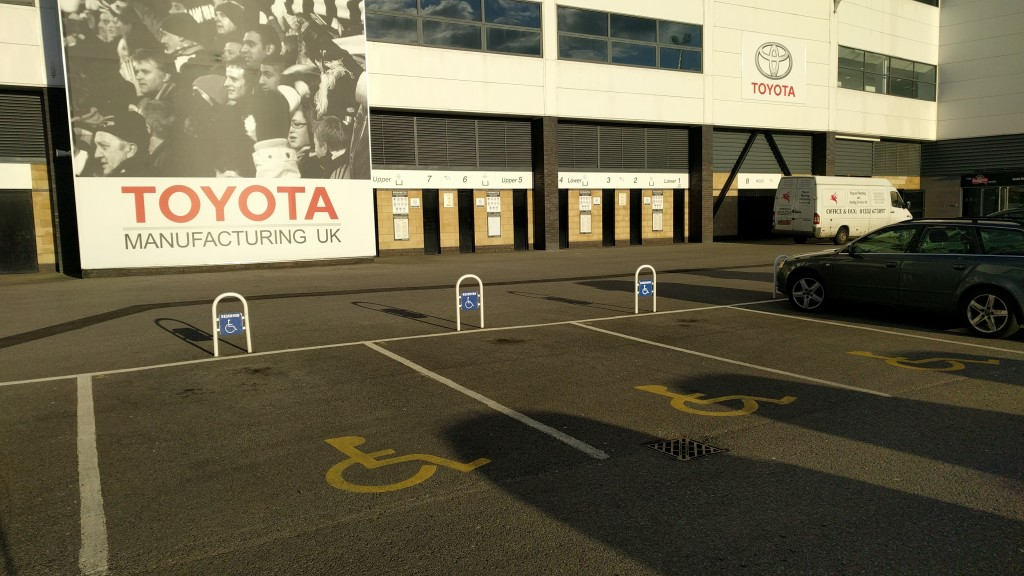 derby county accessible parking areas ipro