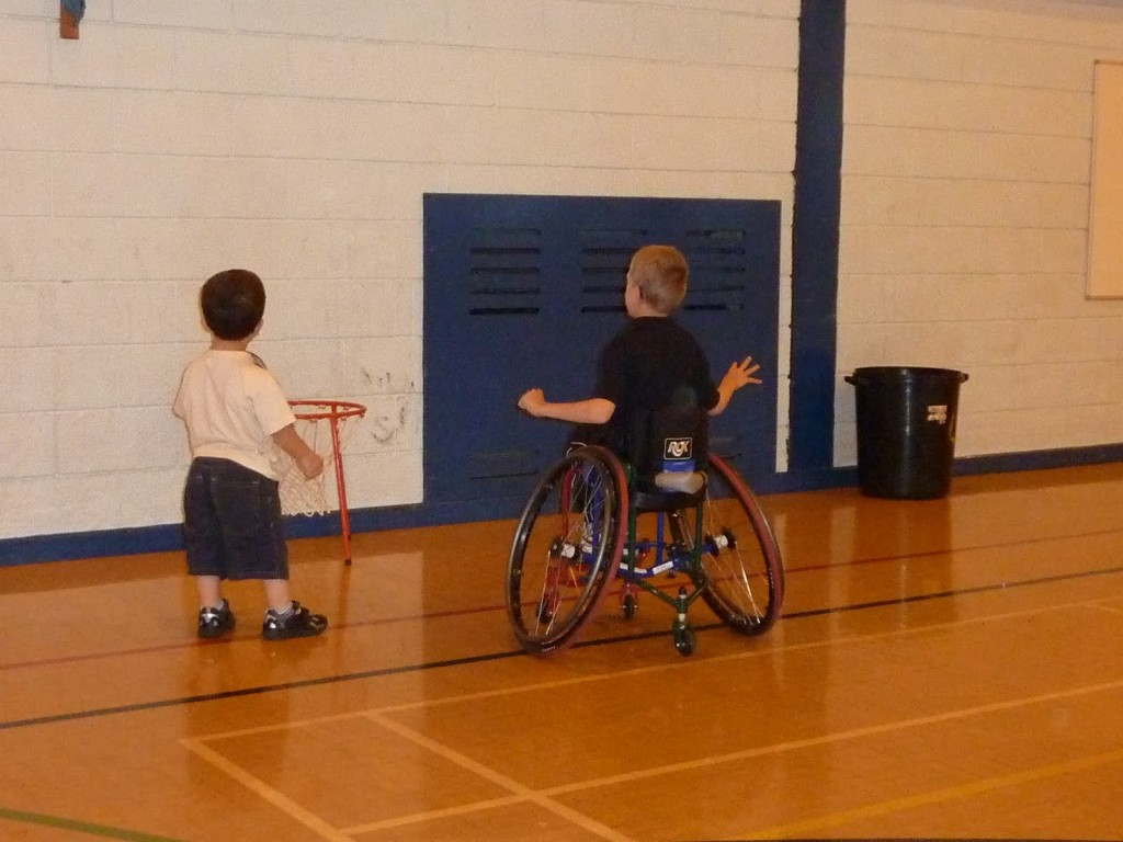 wheelchair basketball youth players