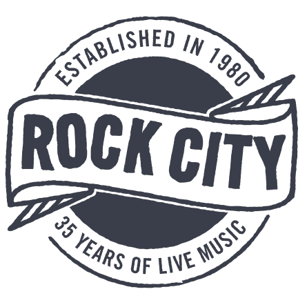 rock city grey and white circle logo