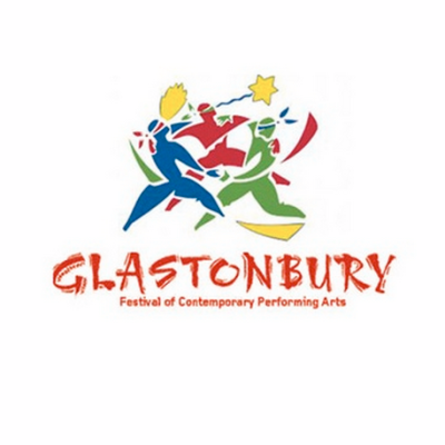 Glastonbury Logo multicoloured figures.