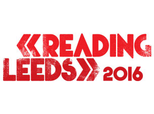 Reading and leeds festival red logo on white background