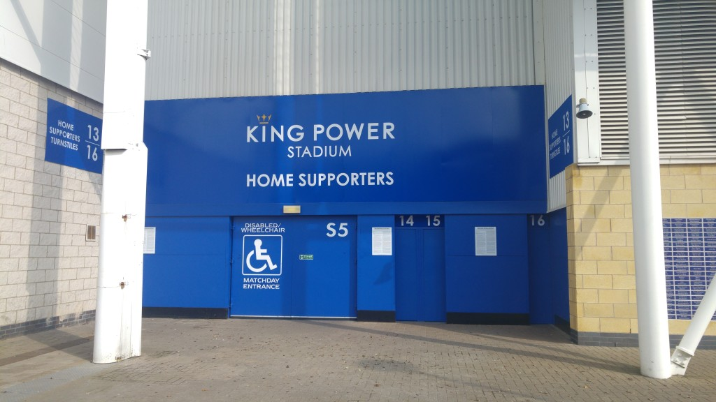 Leicester Stadium Side Entrance Accessible Entrance Matchday