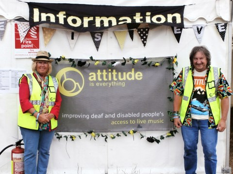 Attitude is everything banner and staff.