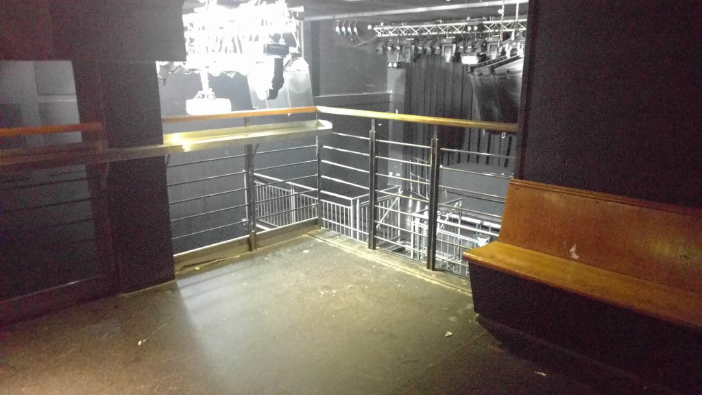 Viewing platform side of stage