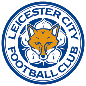 Leicester City Football Club Blue and White Logo with Fox Motif