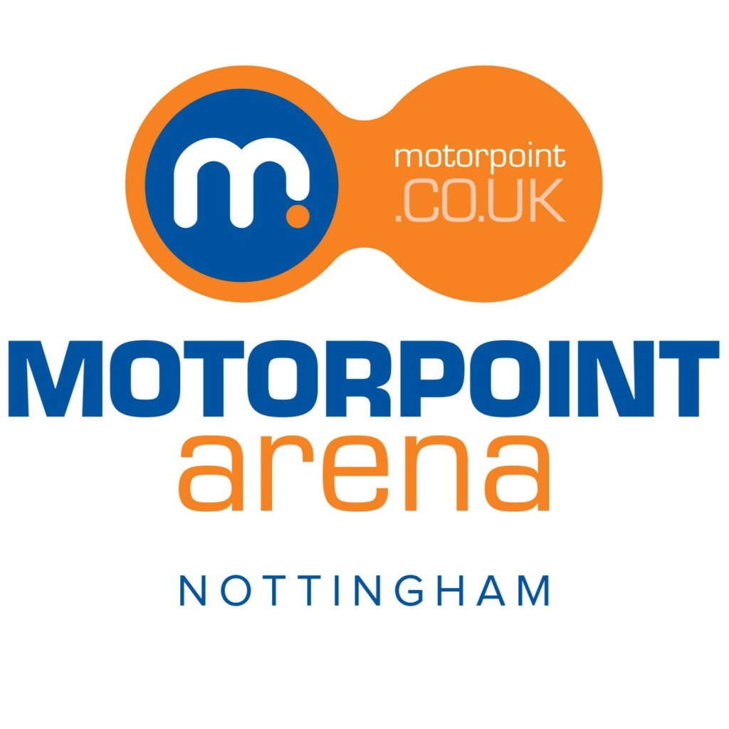 motorpoint arena orange and blue logo