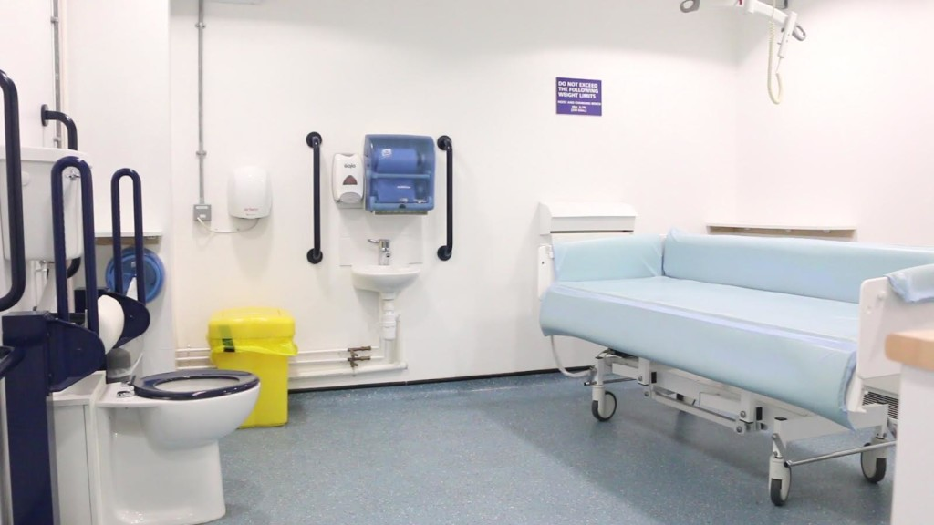 interior changing places toilet and bed