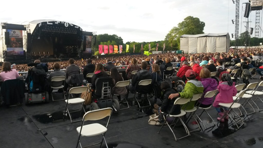 photograph of accessible viewing platform area and crowd