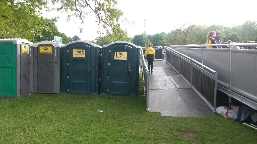 photo of accessible toilets and ramped access to view platform