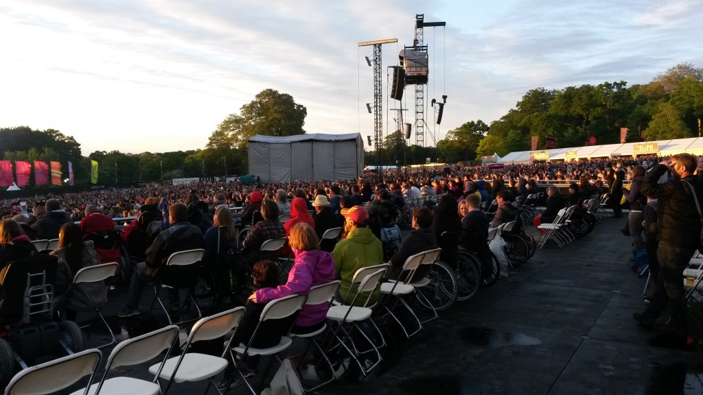 photo of outside seating and crowd at event