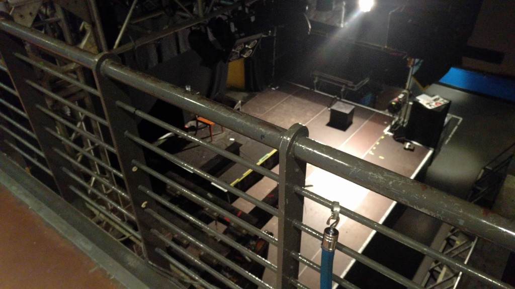 balcony view of stage area.