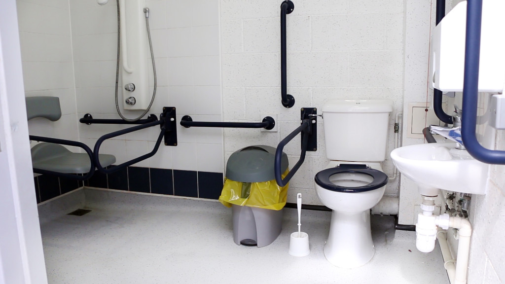 photo of accessible toilet.