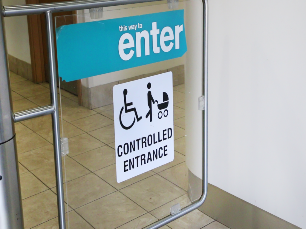 photo of controlled accessible entrance