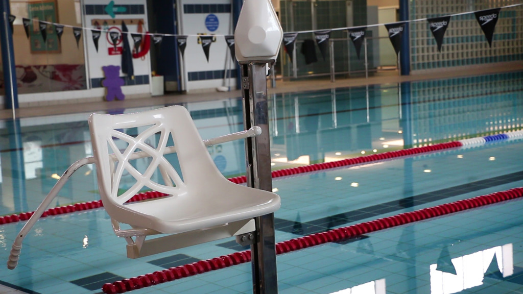 photo of swimming pool hoist chair