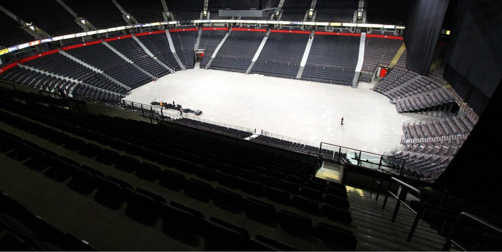 interior ice arena and seating photo