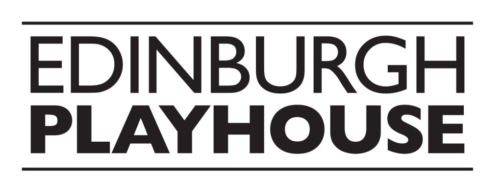 black and white text logo for edinburgh playhouse