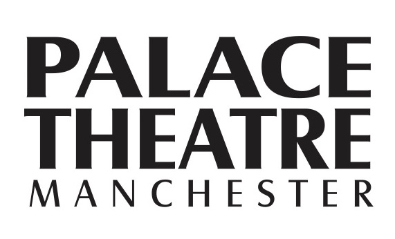 palace theatre manchester black text logo