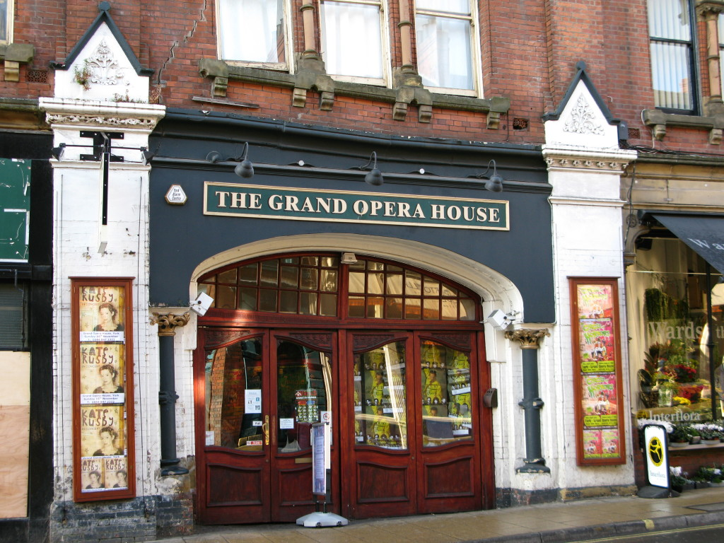 exterior day shot of grand opera house entrance