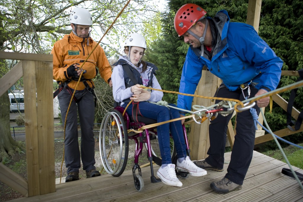 wheelchair accessible abseiling