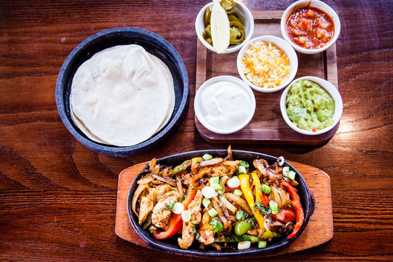 photo of food selection and side dishes from las iguanas