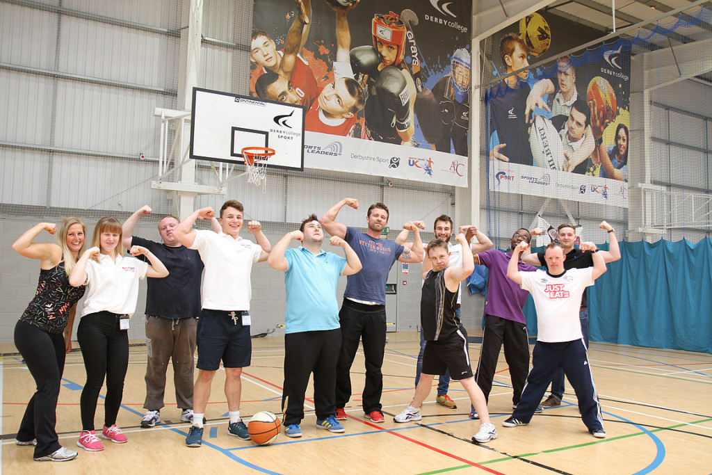 photograph of disabled people in sports hall