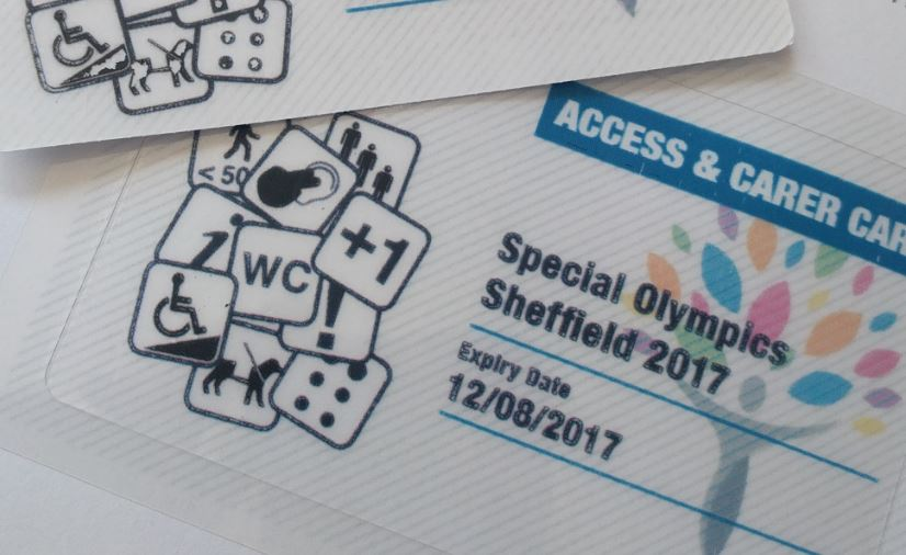 special olympics access card