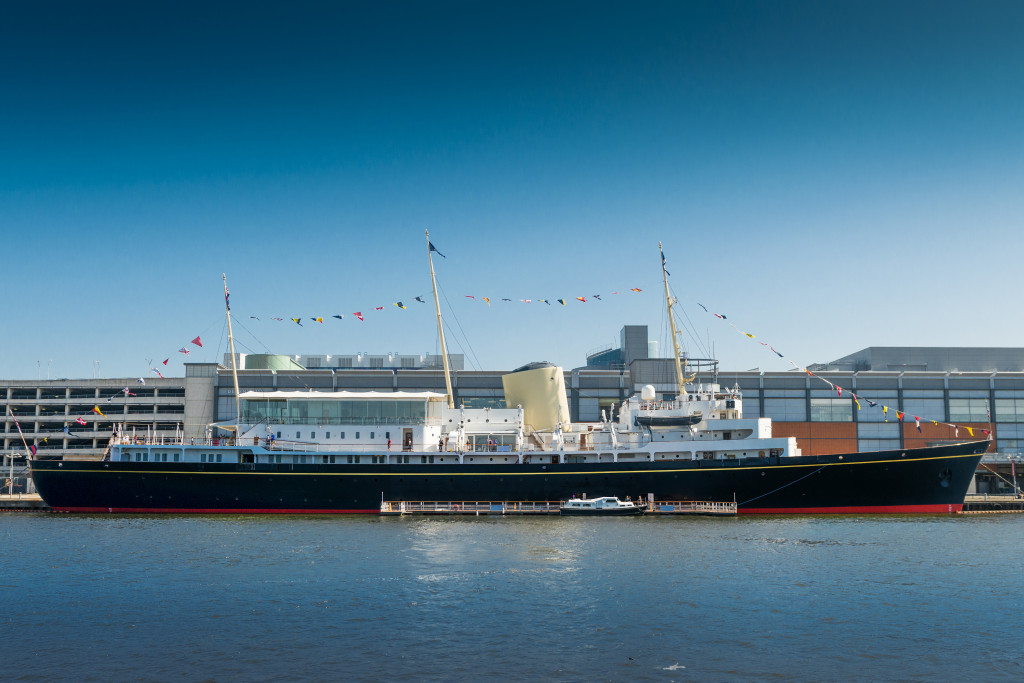 royal yacht britannia blue skies and blue waters