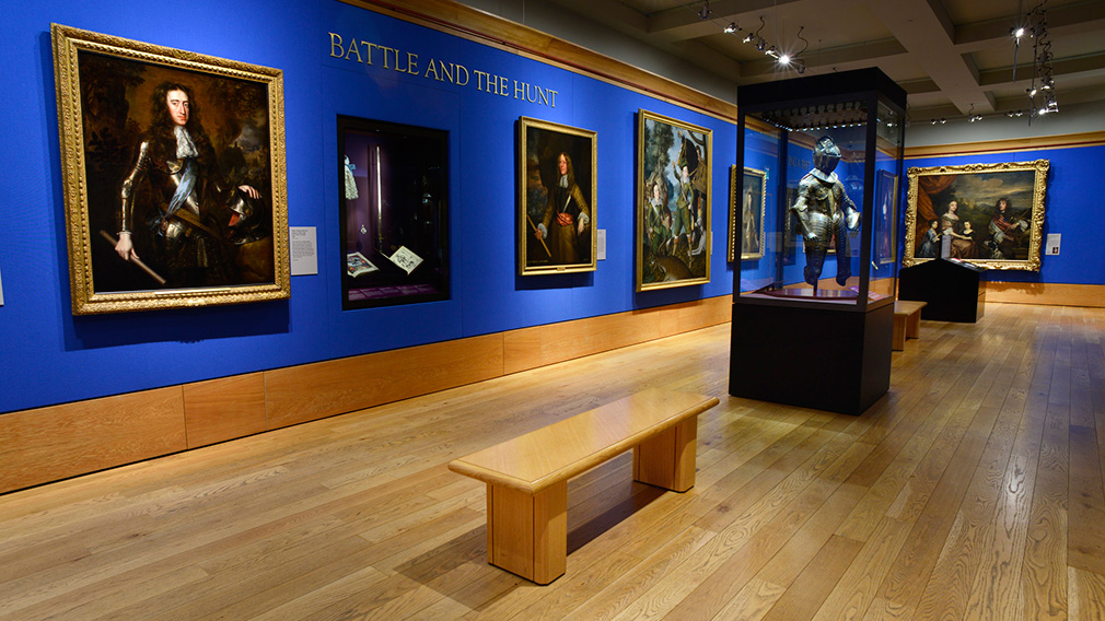 Battle and The Hunt room at The Queen's Gallery, Buckingham Palace