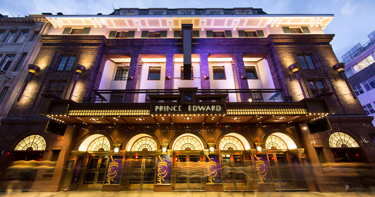 front view of Prince Edward Theatre