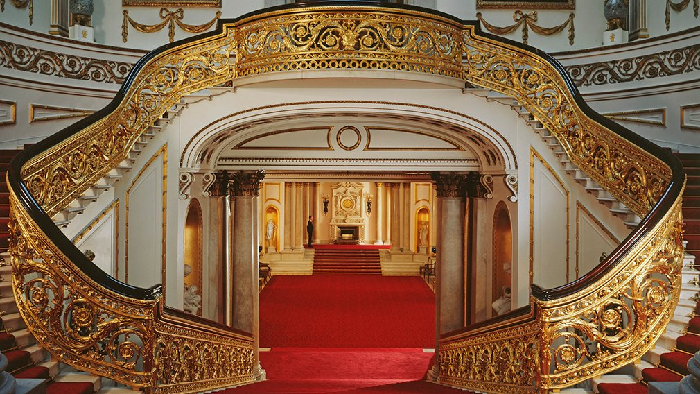Staircase in The State Rooms, Buckingham Palace