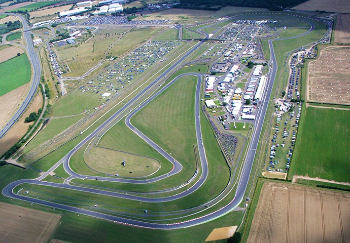 skyview of Snetterton Circuit
