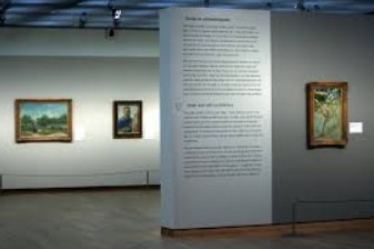 View of the gallery at the Van Gogh Museum