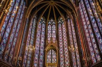 Stain glass windows in Sainte-Chapelle