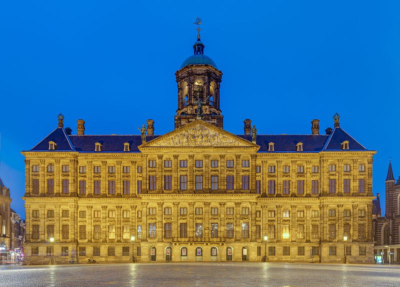 Front-view of The Royal Palace, Amsterdam