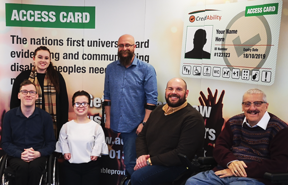 A photo of the team behind the access card scheme