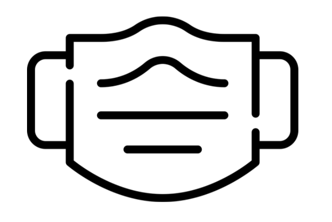 outline of a facemask