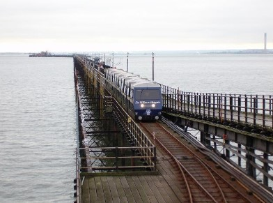 train on southend pier